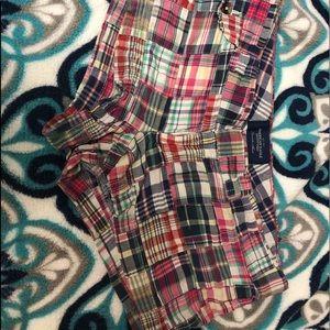 Size 6 American Eagle plaid shorts